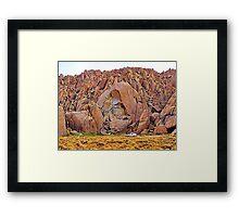 Fractured rock Framed Print