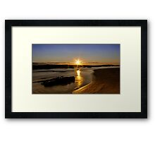 Sunset at St Andrew Beach Framed Print