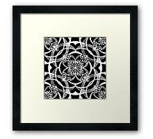 Dreams in White Satin Framed Print