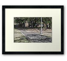 God Path Framed Print