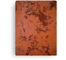 Orange wall,Maroc Canvas Print