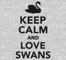 Keep calm and love swans Kids Clothes