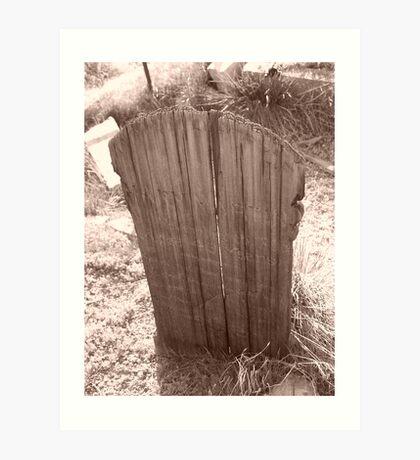 Virginia City Wooden Grave Marker Art Print
