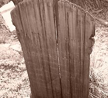 Virginia City Wooden Grave Marker by Steve Hunter