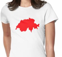 Switzerland map Womens Fitted T-Shirt