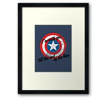 I'm With You Shield Framed Print