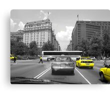 Yellow in DC Canvas Print
