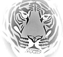 Black and White Tiger by AnneMerritt