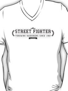Street Fighter - Retro Black Clean T-Shirt
