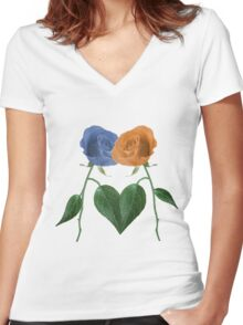 Lets Grow Together No Copy 1.0 Women's Fitted V-Neck T-Shirt