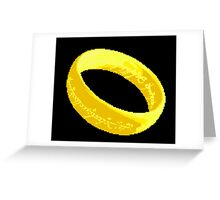 The one ring pixel art Greeting Card
