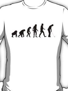 Human Evolution Golf T-Shirt