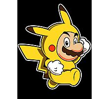 Pikachu Mario Photographic Print