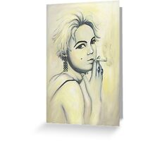 Edie Painting Greeting Card