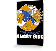 Donald Duck Angry Bird Greeting Card