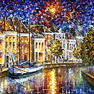 The Entrance To Amsterdam — Buy Now Link - www.etsy.com/listing/227888850 by Leonid  Afremov