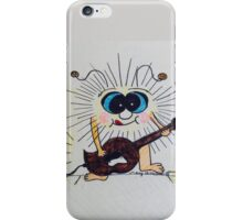 Fuzzy Critter Electric Guitar Player iPhone Case/Skin