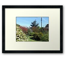An English Country Garden in Spring Framed Print