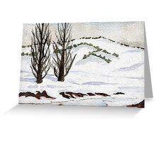 Snow- Landscape Greeting Card