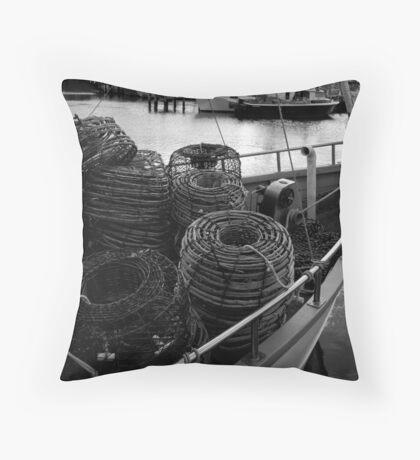 Bon Voyage: Constitution Dock, Hobart, Tasmania Throw Pillow