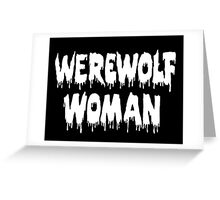 Werewolf Woman Greeting Card