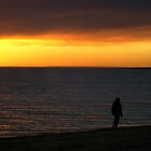 Alone Again Naturally - Elwood Beach, Melbourne, Victoria by Deanna Roberts Think in Pictures