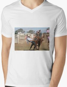 Cowboy Down No 2 Mens V-Neck T-Shirt
