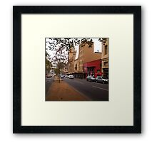 A funny thing happened on the way to the Forum!! Melb. VIC Australia Framed Print