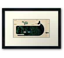 Whale on Whaler's log Framed Print