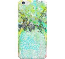 Aqua Blue and Green Floral Bouquet iPhone Case/Skin