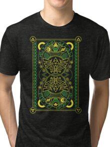 Card Back - Hylian Court Legend of Zelda Tri-blend T-Shirt