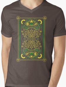 Card Back - Hylian Court Legend of Zelda Mens V-Neck T-Shirt