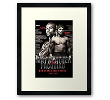 Mayweather vs Pacquiao Shirt  Framed Print