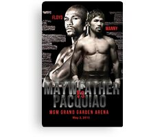 Mayweather vs Pacquiao Shirt  Canvas Print
