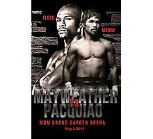 Mayweather vs Pacquiao Shirt  Photographic Print