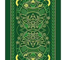 Card Back - Hylian Court Legend of Zelda by sorenkalla