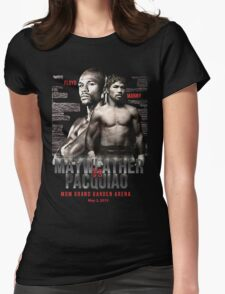 Mayweather vs Pacquiao Shirt  Womens Fitted T-Shirt
