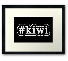 Kiwi - Hashtag - Black & White Framed Print