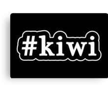 Kiwi - Hashtag - Black & White Canvas Print