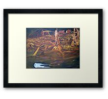 Golden lands of inkling Framed Print