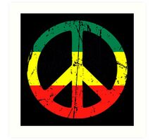 Rasta Peace - Distressed Art Print