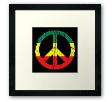 Rasta Peace - Distressed Framed Print