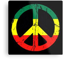 Rasta Peace - Distressed Metal Print