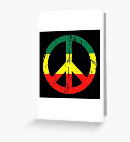 Rasta Peace and love - Distressed Greeting Card