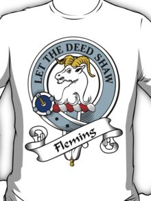 00051 Fleming, Frisken or Flanders Clan Tartan  T-Shirt