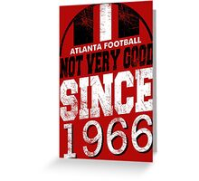 Atlanta Football Alt Greeting Card