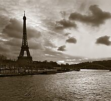 Over the Seine by Kostas Pavlis