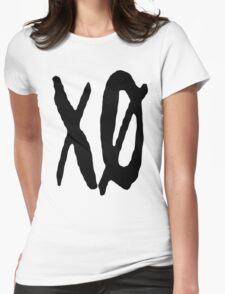 XO Slash [Black] Womens Fitted T-Shirt