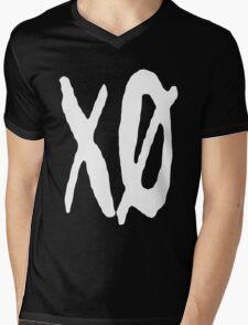 XO Slash [White] Mens V-Neck T-Shirt