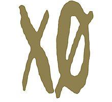 XO Slash [Gold] Photographic Print